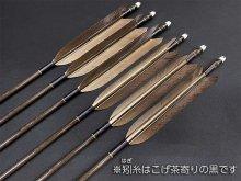 カーボン矢 6本組 KC-8025 黒手羽 (4)