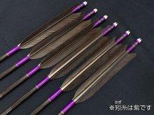 カーボン矢 6本組 KC-8025 黒手羽 (5)
