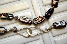 大粒ケシパール(ピーコック)ネックレス