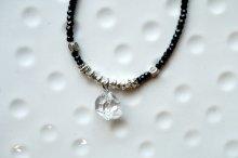 ハーキマーダイヤモンドとブラックスピネルネックレス