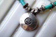 チューブ型ターコイズとカレントップのネックレス(オーダー)