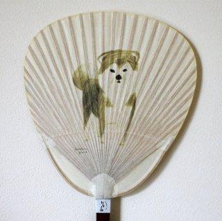 竹うちわ 秋田イヌ(キタカゼパンチ)