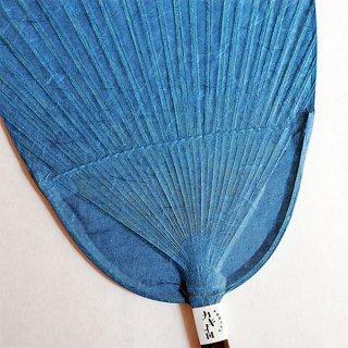 色和紙団扇(小判)|紺