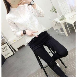 襟が可愛いシャツ シンプルデザイン カジュアル ガーリー 着心地が良い デート服 通勤服