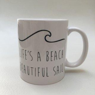 Beautiful Sail Life's a beach ウェーブ マグカップ コップ  ビーチ サーフ インテリア雑貨