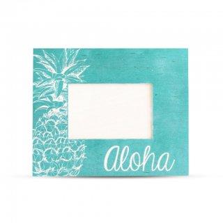 48色から選べる♪ パイナップル aloha ウッド フォトフレーム ハワイ hawaii