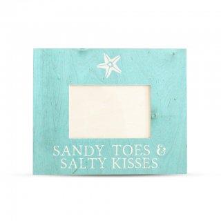 48色から選べる♪ スターフィッシュ ウッド フォトフレーム Sandy Toes & Salty Kisses