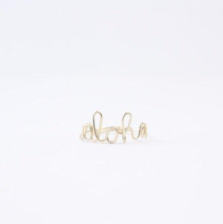ki-ele キエレ 2色展開 14KGF ゴールド aloha ワイヤーリング 指輪 ハワイ ビーチ