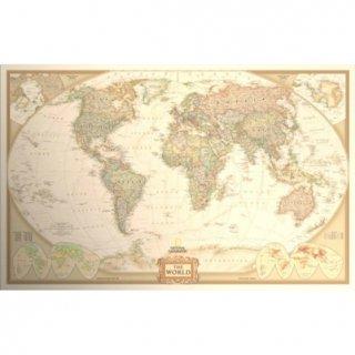 即納品 ビンテージ風 アンティーク調 世界地図 ポスター 海外インテリア ボヘミアン 2
