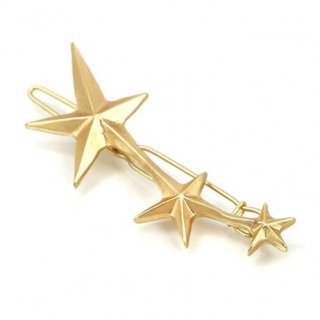 即納品 ゴールド スター 星 ヘアピン バレッタ ヘアアクセサリー ヘアクリップ インポート 通販