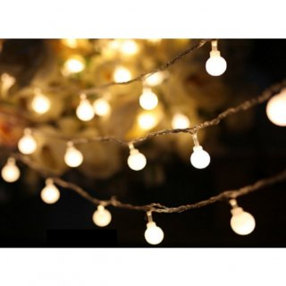 即納品 バブル 電球型 電池式 ガーランドライト 間接照明 海外インテリア ホワイト イルミネーションライト