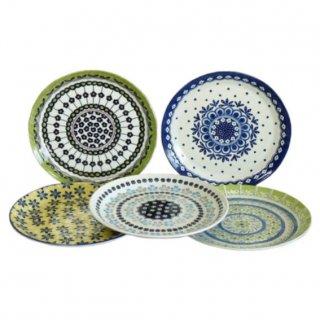 即納品 5枚セット お皿 モロッコ カラフル 和食器 海外キッチン雑貨 25×H3cm ラウンドプレート 通販