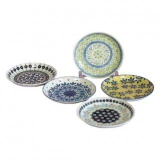 即納品 5枚セット お皿 モロッコ カラフル 和食器 海外キッチン雑貨 15.5×H2.5cm ラウンドプレート 通販