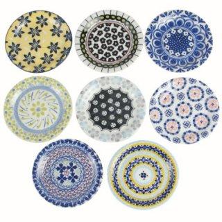即納品 8枚セット 小皿 モロッコ カラフル 和食器 海外キッチン雑貨 12cm ラウンドプレート 通販