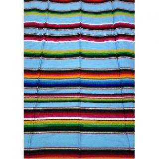 即納品 ブルー メキシカンストライプ ブランケット ベッドスプレッド ビーチラグ 通販
