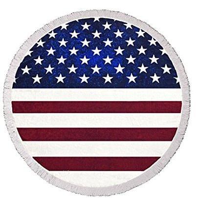 【大特価】アメリカンフラッグ 星条旗 ラウンドビーチラグ 大判 ビーチマット 通販