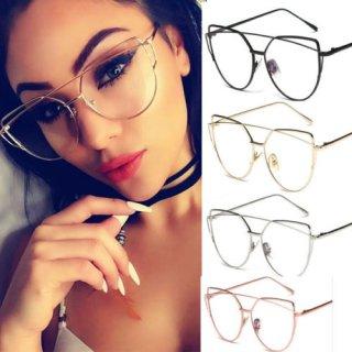 【大特価】4色展開 クリアレンズ 伊達眼鏡 だてめがね アイウェア メガネ メタルフレーム インポート 通販