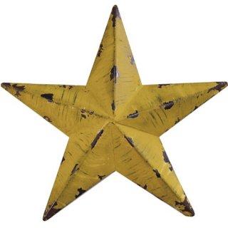 即納品 3サイズ イエロー スター 星 ビンテージ風 アンティーク ブリキ オブジェ 海外インテリア インポート 通販