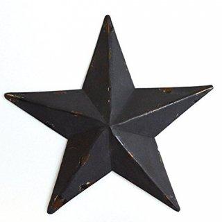 即納品 ブラック スター 星 ビンテージ風 アンティーク ブリキ オブジェ 海外インテリア インポート 通販