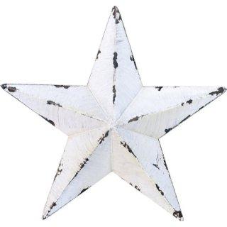 即納品 3サイズ ホワイト スター 星 ビンテージ風 アンティーク ブリキ オブジェ 海外インテリア インポート 通販