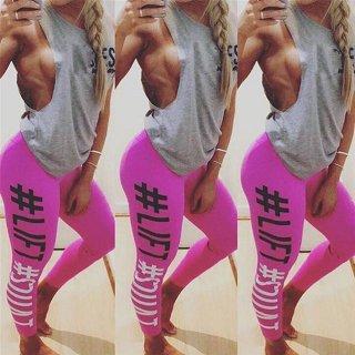 【大特価】ピンク #LIFT #SQUAT ロゴ フィットネス レギンスパンツ ワークアウト インポート 通販