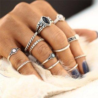 【大特価】 2色展開 12本セット リング 指輪 ボヘミアン インポートアクセサリー 通販