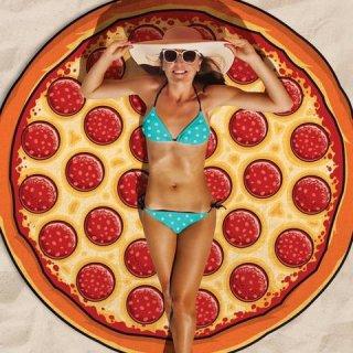 【大特価】PIZZA ピザ ラウンドビーチマット ブランケット ラウンドラグ ビーチラグ 通販