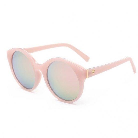 【大特価】 ライトピンク パステルピンク ラウンドサングラス ピンクレンズ インポート 通販