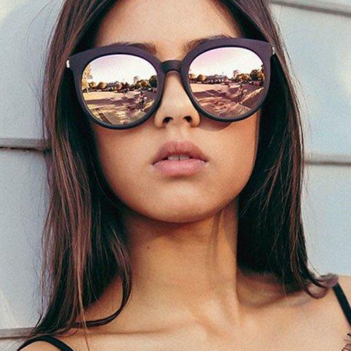 【大特価】5色展開 ミラーサングラス ラウンドフレームサングラス 通販