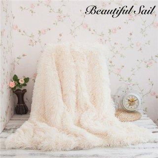 【大特価】2サイズ 9色展開 フェイクファー ブランケット 毛布 ベッドスプレッド ベッドカバー 海外インテリア 通販