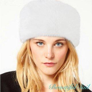 【大特価】3色展開 ホワイト ブラック ブラウン フェイクファーハット ロシアン帽 ロシアンハット インポート 通販