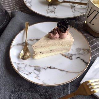 【大特価】ホワイト Sサイズ ゴールドトリム 大理石プリント ラウンドプレート デザートプレート 小皿 通販