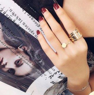 【大特価】2色展開 シルバー ゴールド ワイヤーリング スプリングリング メタルリング 指輪 インポート 通販