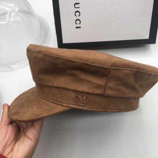【大特価】2色展開 ブラック ブラウン フェイクスエード  合皮 メタルロゴ エンブレム キャスケット マリンキャップ 帽子