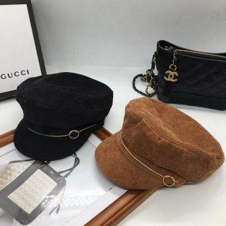 【大特価】2色展開 ブラウン ブラック コーデュロイ リブデザイン キャスケット マリンキャップ 帽子 インポート 通販