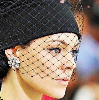【大特価】ブラック チュール チュチュ レイヤードデザイン ニット帽 ビーニー シースルー メッシュ 帽子 インポート 通販