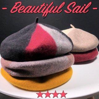 【大特価】11色展開 フェルト素材 ミックスカラー マルチカラー ベレー帽 ベレーハット 帽子 通販