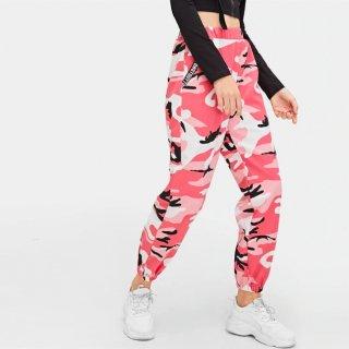 【大特価】ピンク 迷彩柄 カモフラージュ柄 トラックパンツ ジョガーパンツ ワークパンツ カーゴパンツ 通販