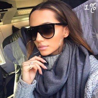 【大特価】ブラック ワンレンズサングラス ビッグサングラス でかサングラス スクエアサングラス インポート 通販