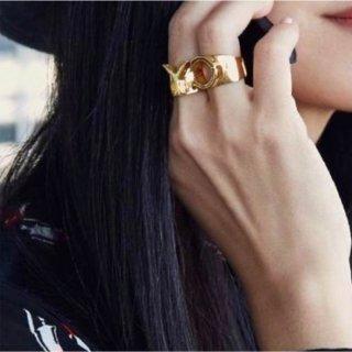 【大特価】19デザイン ゴールド サイズ調整可能 アルファベット イニシャル リング 指輪 インポート アクセサリー  通販