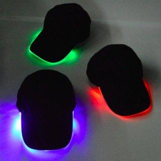 【大特価】3色展開 ブラック LED ライト キャップ グロウ ダッドハット エレクトリック 帽子 ユニセックス 男女兼用