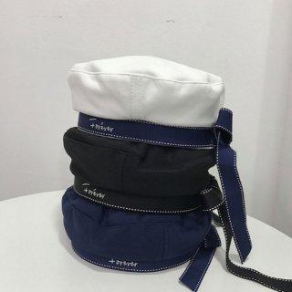 【大特価】3色展開 ホワイトステッチ 刺繍デザイン トリム ベレー帽 ベレーキャップ リボン 通販