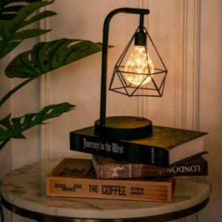 【大特価】ブラック ダイヤモンドランプ 間接照明 テーブルランプ 電池式 スタンドランプ 電球 海外インテリア インポート 通販
