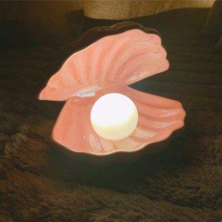 【大特価】2色展開 ピンク ホワイト シェル 貝殻 ランプ 人魚 マーメイド ナイトライト パール 間接照明 海外インテリア インポート 通販