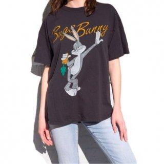 【大特価】ブラック バックスバニー ワーナーブラザーズ ビンテージ古着風 オーバーサイズ Tシャツ 半袖 トップス カットソー