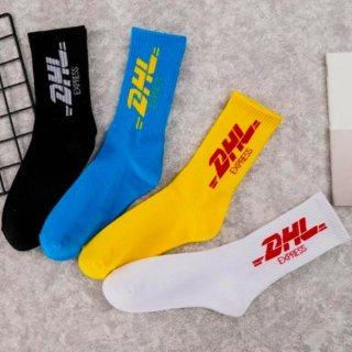 【大特価】4色展開 ブラック ブルー イエロー ホワイト DHL パロディ ソックス ショートソックス 靴下 インポート 通販