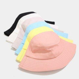 【大特価】7色展開 パステルカラー 無地 シンプル バケットハット バケハ 帽子 インポート 通販