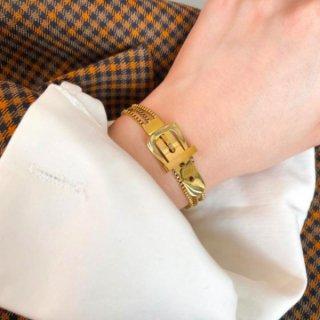 【大特価】ゴールド ベルトストラップ ブレスレット チェーンブレスレット ベルトブレスレット インポート 通販