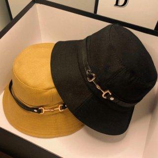 【大特価】3色展開 メタルロック ベルトストラップ バケットハット バケハ ゴールドメタル ビット金具 帽子 インポート 通販