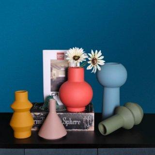 【大特価】5色展開 デザイン アート 花瓶 フラワーベース セラミックベースノルディックインテリア 韓国インテリア 海外インテリア